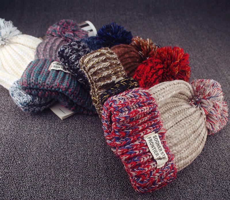 Новинка-осень-и-зима-маска-милые-капот-цвет-ткани-стандартный-теплые-шапки-для-женщин-шапочка-шапочка