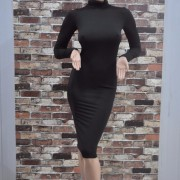 2015-New-Long-party-dresses-Autumn-dresses-High-collar-Sexy-bandage-Bottoming-Women-Dress-Casual-Dress3
