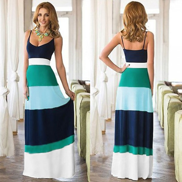 Fashion-Sexy-Women-Boho-U-Neck-Color-Matching-Waisted-Sleeveless-Summer-Party-Long-Maxi-Dress1