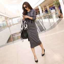 New-2015-Autumn-and-Winter-Women-Floor-Length-Dress-Casual-Hips-Long-Style-Hooded-Dress-Lady1