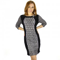 New-2015-Fashion-3-4-Sleeve-Dresses-Women-Work-Wear-Sexy-Formal-Slim-Dress-Plus-Size1