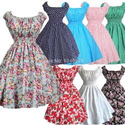 New-Arrivals-2015-Women-Pink-Dresses-50s-Swing-Vintage-60s-Dress-Polka-Dot-Floral-Print-Vestidos1