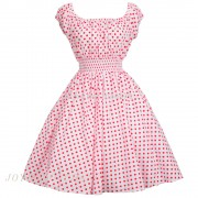 New-Arrivals-2015-Women-Pink-Dresses-50s-Swing-Vintage-60s-Dress-Polka-Dot-Floral-Print-Vestidos4