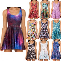 2014-New-Sexy-Women-dress-Cartoon-Adventure-Time-Dress-BRO-BALL-REVERSIBLE-SKATER-DRESS-Pleated-Sun-1