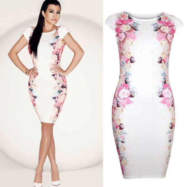 2014-New-Women-Summer-Casual-Dress-Elegant-Celebrity-White-Print-Dresses-Floral-Party-Vestidos-OL-Work-1