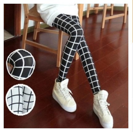 2014-Winter-Fashion-Newest-Black-White-Plaid-Legging-For-Women-Lady-Leggings-Trousers-Sexy-Pants-Gift-1