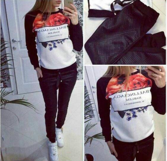 2015-2-piece-sets-New-Fashion-Women-s-Sweatshirt-moleton-feminino-hoodies-harajuku-Fleece-Sport-suit-1