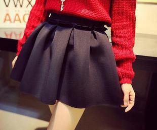 2015-Autumn-And-Winter-High-Street-Women-Mini-Skirt-Ball-Gown-Underskirt-High-Waist-Pleated-Skirt-1