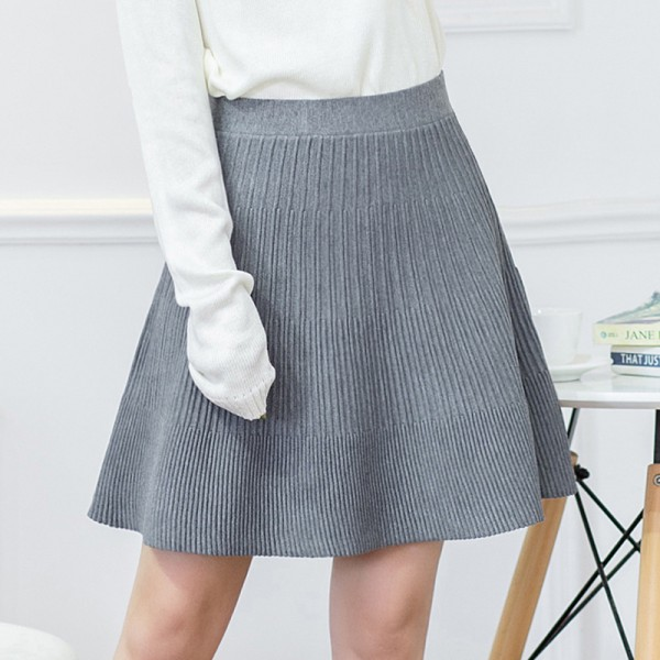 2015-Europe-and-America-autumn-winter-wrinkles-knitting-skirts-elastic-high-waist-slim-sexy-fold-women-1