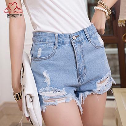 2015-Fashion-Hole-Irregular-Whisker-Short-Jeans-High-Waist-Washed-Tassel-Denim-Shorts-Female-Ripped-Cowboy-1