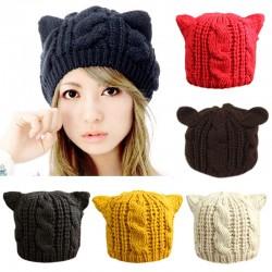 2015-Fashion-Lady-Girls-Winter-wool-makes-hotspot-Cat-Ear-Hat-Beanie-Free-shipping-1