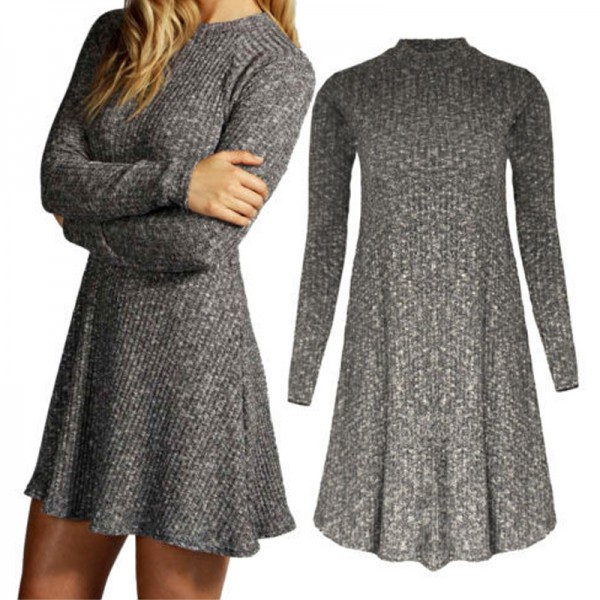 2015-Fashion-Winter-Dress-Long-Sleeve-Women-Casual-Sweater-Dresses-Ruffle-Basic-One-Piece-Pleated-Slim-1