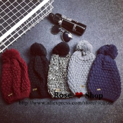 2015-Korean-Fashion-Accessories-Warm-Winter-Striped-Mask-Ball-Hats-For-Unisex-Knitting-Beanie-Cap-1