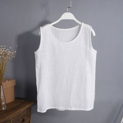 2015-New-Summer-Women-s-T-shirt-Casual-Sleeveless-t-shirt-Cotton-Linen-T-Shirt-Retro-1