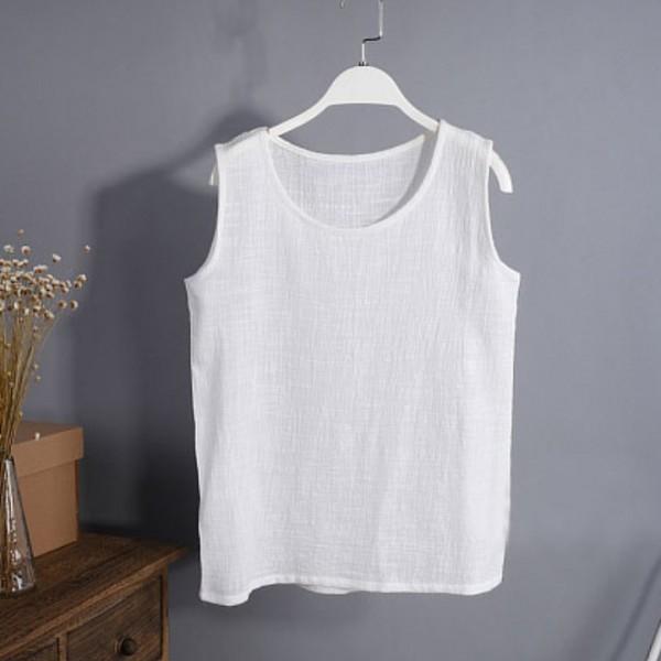 2015-New-Summer-Women-s-T-shirt-Casual-Sleeveless-t-shirt-Cotton-Linen-T-Shirt-Retro-1