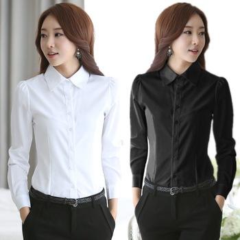 2015-New-fashion-White-Shirt-Women-work-wear-Long-Sleeve-Tops-Slim-Women-s-Blouses-Shirts-1