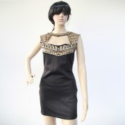 2015-Summer-Gold-Studs-Neck-Black-Mini-Dresses-Casual-Package-Hip-Pencil-Dress-For-Women-Club-6