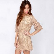 2015-Winter-dress-and-elegant-women-dress-luxury-vestidos-wavy-golden-ornaments-hollow-sleeves-women-sexy-2