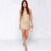 2015-Winter-dress-and-elegant-women-dress-luxury-vestidos-wavy-golden-ornaments-hollow-sleeves-women-sexy-3