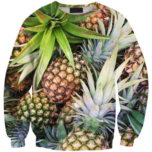 2015-Women-New-Style-O-neck-Fashion-Sweatshirt-Digital-Print-Fruit-Pineapple-1