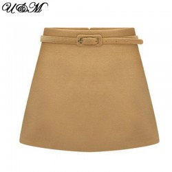 2015-Women-Skirt-European-Desigual-Ruched-A-Line-Casual-Mini-Short-Elegant-Wrap-Winter-Wool-Skirts-1