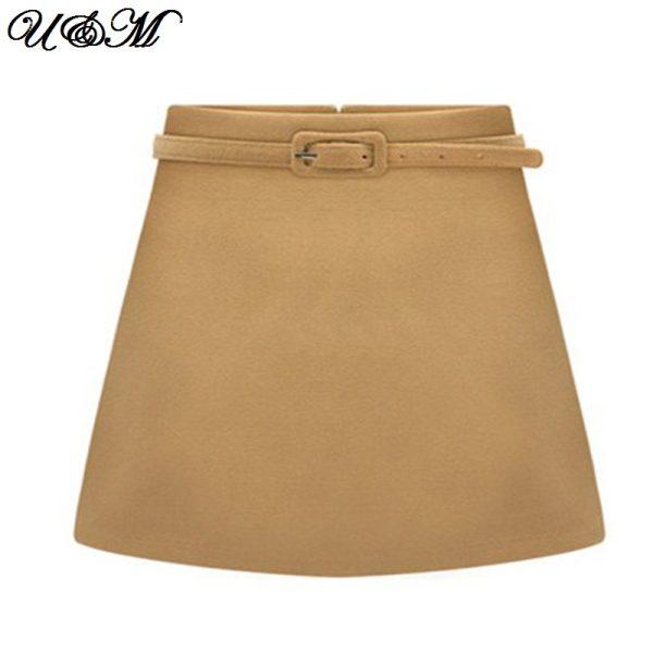 2015-Women-Skirt-European-Desigual-Ruched-A-Line-Casual-Mini-Short-Elegant-Wrap-Winter-Wool-Skirts-1