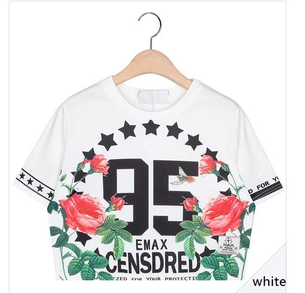 2015-fashion-Harajuku-zipper-summer-women-clothing-95-Number-letter-rose-short-t-shirt-camisola-crop-1