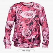 2015-new-Plus-Size-Autumn-Hoodies-Suit-Pullovers-Hoody-sweatshirts-3d-print-pink-rose-pattern-Winter-2
