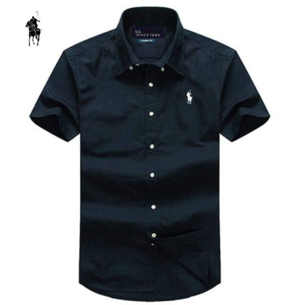 2015-summer-Brand-small-horse-Men-Shirt-Plus-Size-Slim-Fit-Business-Formal-Shirt-Short-Sleeve-1