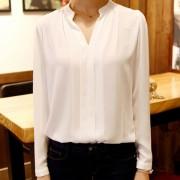 2015-summer-womens-chiffon-blouse-ladies-White-elegant-sexy-v-neck-blouses-long-sleeve-shirt-female-2