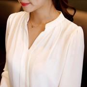 2015-summer-womens-chiffon-blouse-ladies-White-elegant-sexy-v-neck-blouses-long-sleeve-shirt-female-3