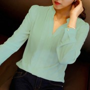 2015-summer-womens-chiffon-blouse-ladies-White-elegant-sexy-v-neck-blouses-long-sleeve-shirt-female-4