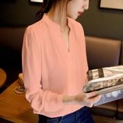 2015-summer-womens-chiffon-blouse-ladies-White-elegant-sexy-v-neck-blouses-long-sleeve-shirt-female-5