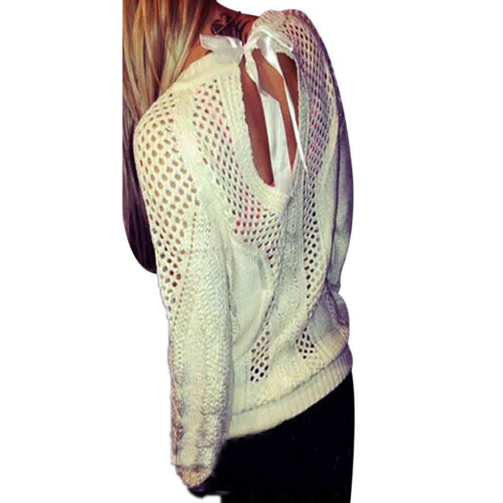 Ажурный бежевый пуловер с доставкой