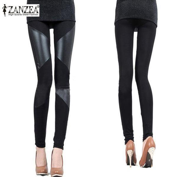 2016-New-ZANZEA-Fashion-Slim-Fit-Women-Ladies-Sexy-Stretch-Stripe-Cotton-Faux-Leather-Black-Legging-1