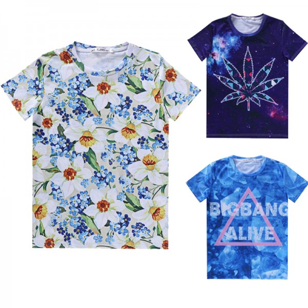 2016-fashion-men-women-s-summer-casual-clothing-short-sleeve-tshirt-3d-harajuku-print-floral-flowers-1