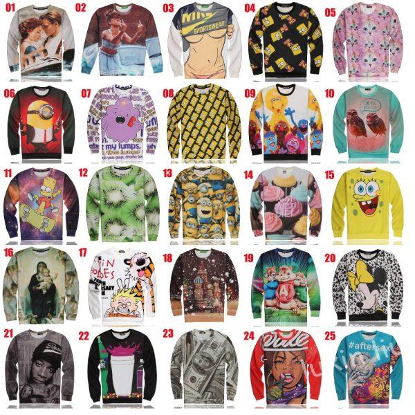 3D-print-women-men-cute-sexxy-Alvin-Simpson-Minions-cupcake-Micky-SpongeBob-Titanic-sweatshirt-hoodie-Gift-1