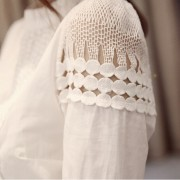 Autumn-Korean-OL-style-sweet-lady-lace-hollow-long-sleeved-shirt-stand-collar-white-blouse-women-2