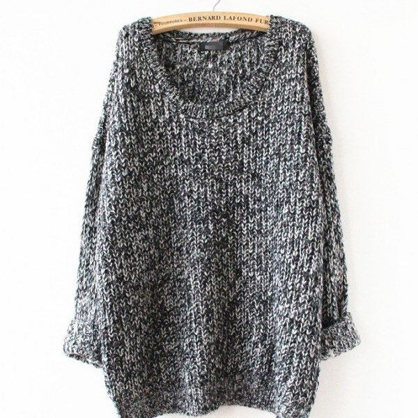 Autumn-Winter-Women-Loose-Knitted-Sweater-Oversized-Sleeves-O-Neck-Tops-Outwear-Pullovers-1