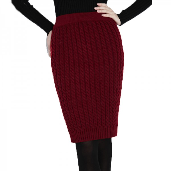 BQ45-Autumn-Winter-Casual-Womens-High-Waist-Knee-length-Cable-Knitted-Pencil-Sweater-Skirts-Bust-Tube-1