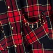 Blusas-Femininas-Casual-Womens-Tops-Turn-Down-Collar-Blouse-Long-Sleeve-Plaid-Print-With-Rivet-Pockets-5
