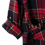 Blusas-Femininas-Casual-Womens-Tops-Turn-Down-Collar-Blouse-Long-Sleeve-Plaid-Print-With-Rivet-Pockets-6