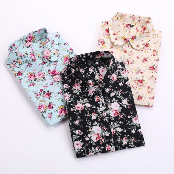 Brand-Floral-Blouses-Cotton-Shirts-Women-Vintage-Turn-Down-Collar-Tops-Blusa-Feminina-Ladies-Long-Sleeve-1