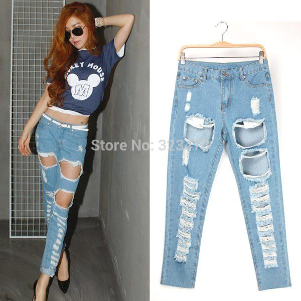 Chic-New-Arrivals-Hot-Loose-Denim-Jeans-Women-s-Distrressed-Tassel-Hole-Regular-Cross-Pants-Female-1