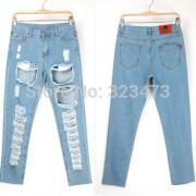 Chic-New-Arrivals-Hot-Loose-Denim-Jeans-Women-s-Distrressed-Tassel-Hole-Regular-Cross-Pants-Female-2