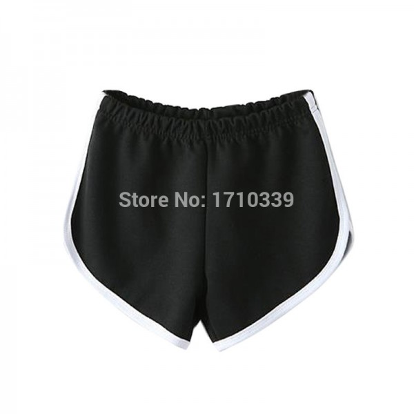 DayLook-2015-summer-women-Black-Elastic-Waist-Sport-Shorts-cotton-active-mid-shorts-hot-sale-free-1