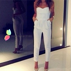Fashion-Women-Jumpsuit-Sexy-White-Rompers-Summer-Strapless-Overalls-V-neck-Bodysuit-1