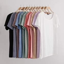 Fashion-summer-style-women-s-t-shirt-cotton-slub-loose-o-neck-short-sleeve-women-tops-1