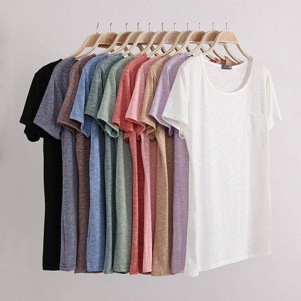 Fashion-summer-style-women-s-t-shirt-cotton-slub-loose-o-neck-short-sleeve-women-tops-1
