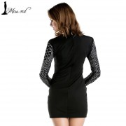 Free-Shipping-2015-Sexy-Geometric-retro-Rhinestone-high-necked-long-sleeved-bodycon-tight-dress-party-dress-3